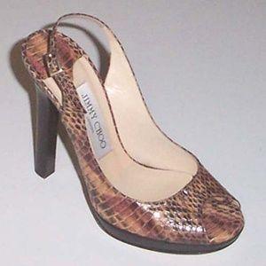 593cc57c1853 Jimmy Choo Shoes - NEW JIMMY CHOO Premier snake platform sandals 36